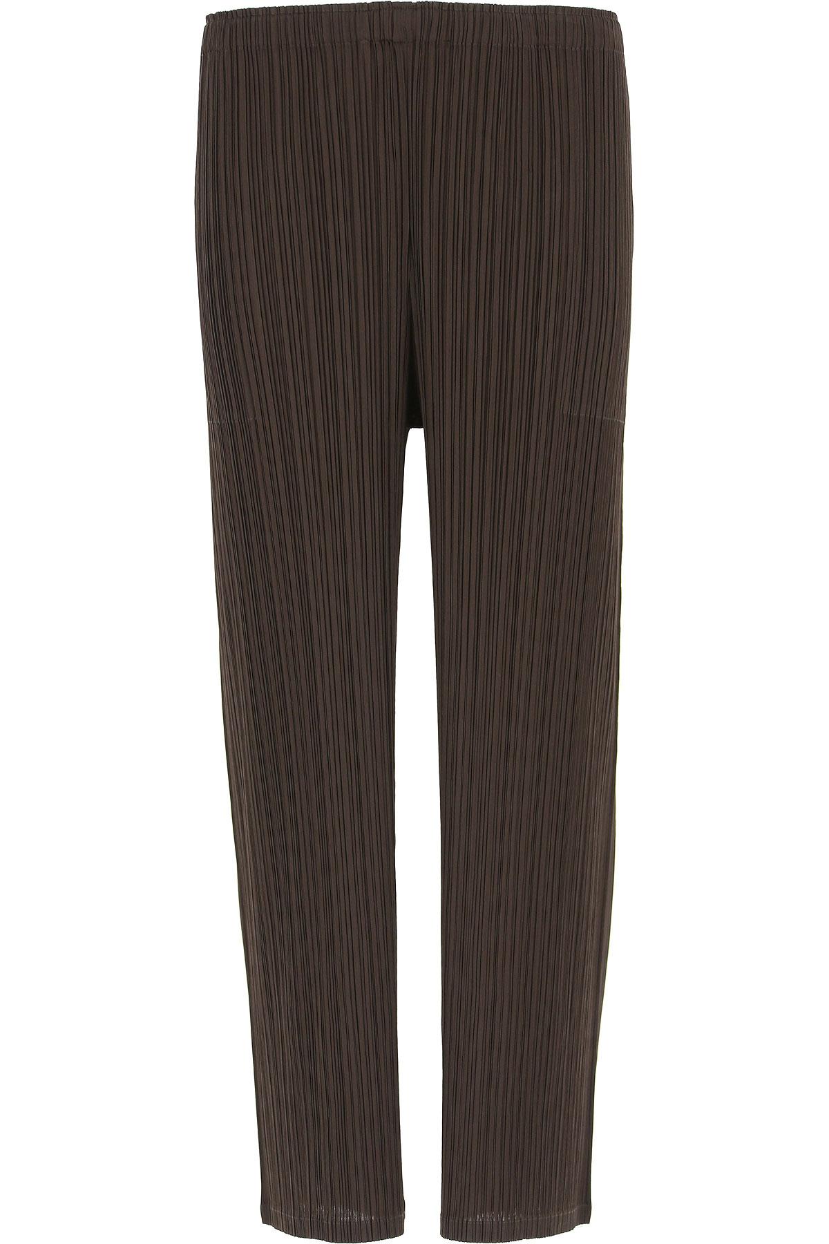 Image of Issey Miyake Pants for Women, Dark Brown, polyester, 2017