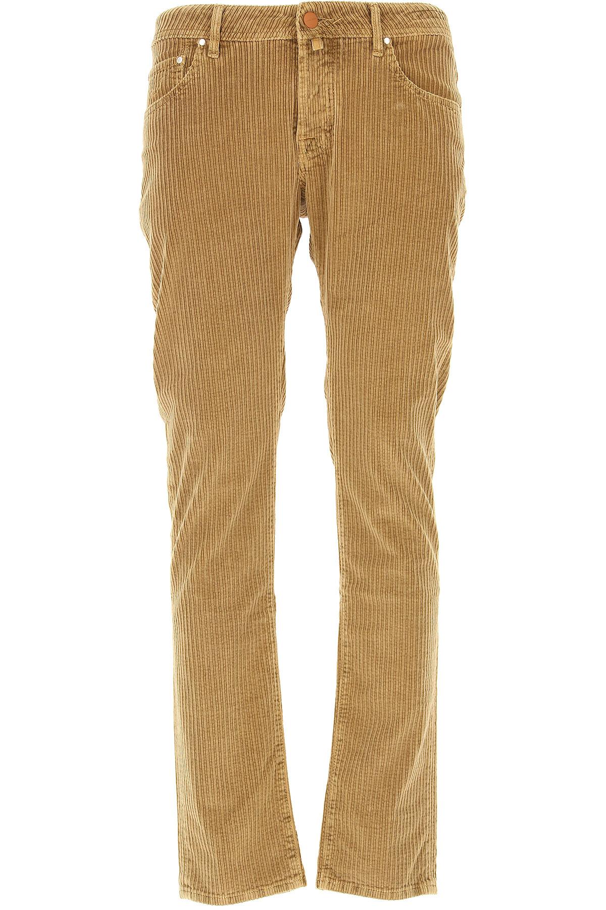 Jacob Cohen Pants for Men On Sale, Camel, Cotton, 2017, 33 34 36