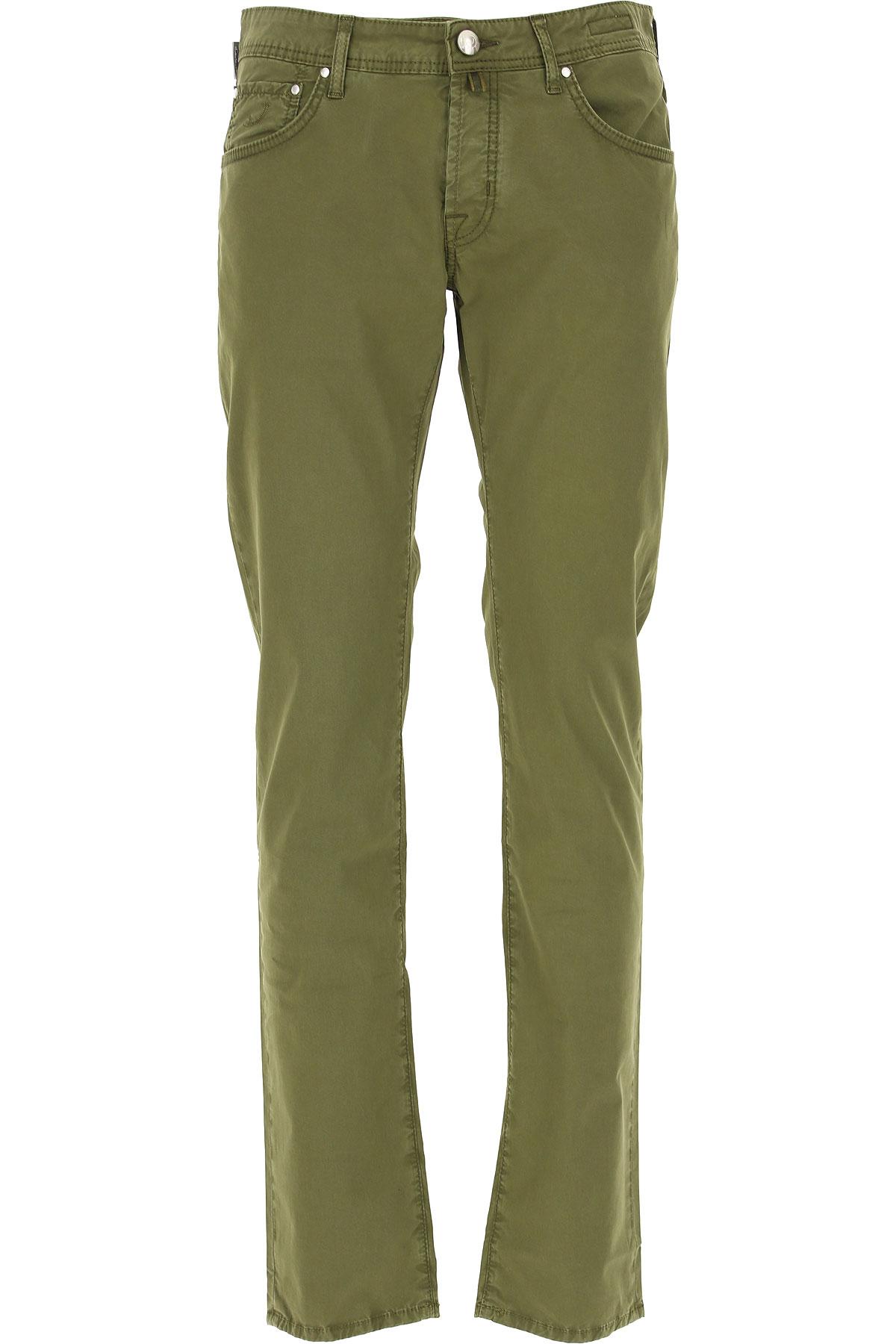 Jacob Cohen Pantalon Homme Pas Cher En Soldes, Vert Olive, Coton, 2019, 46 51 52 54