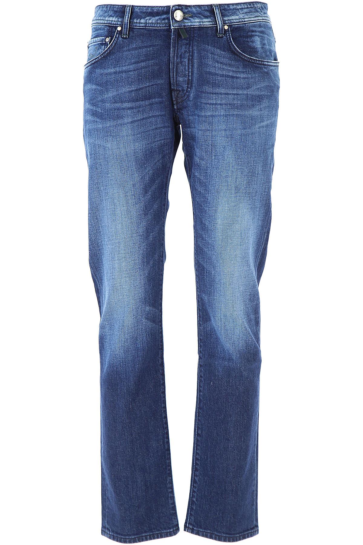 Image of Jacob Cohen Jeans, Blue Denim, Cotton, 2017, US 30 - EU 46 US 31 - EU 47 US 32 - EU 48 US 33 - EU 49 US 34 - EU 50
