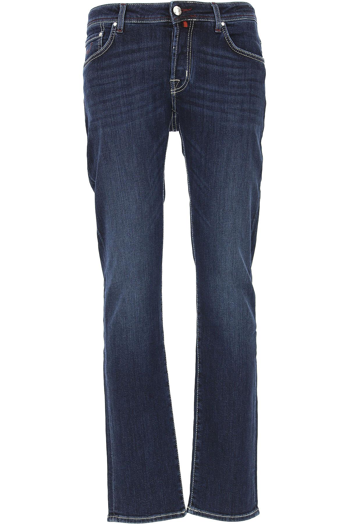 Jacob Cohen Jeans On Sale, Dark Denim Blue, Cotton, 2017, 34 35