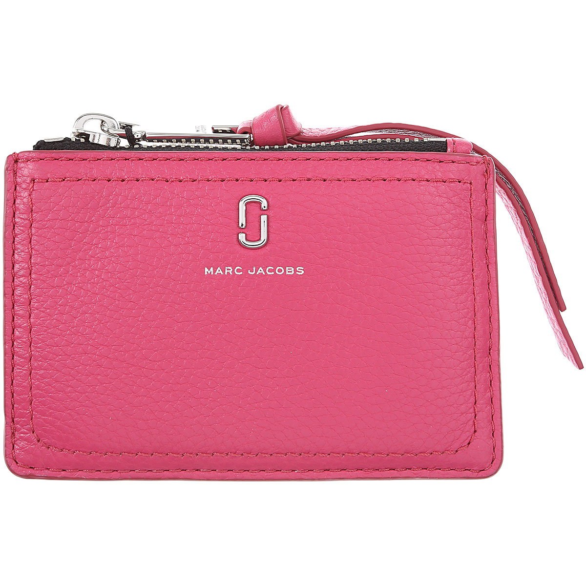 Marc Jacobs Card Holder for Women On Sale, Begonia, Leather, 2019