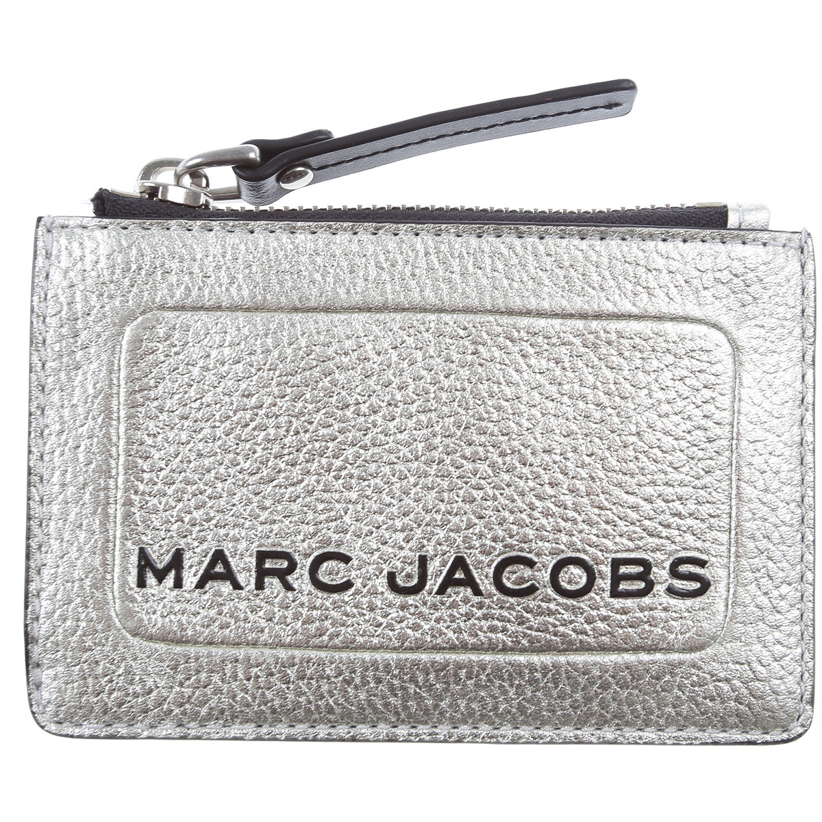 Marc Jacobs Card Holder for Women On Sale, Platinum, Leather, 2019