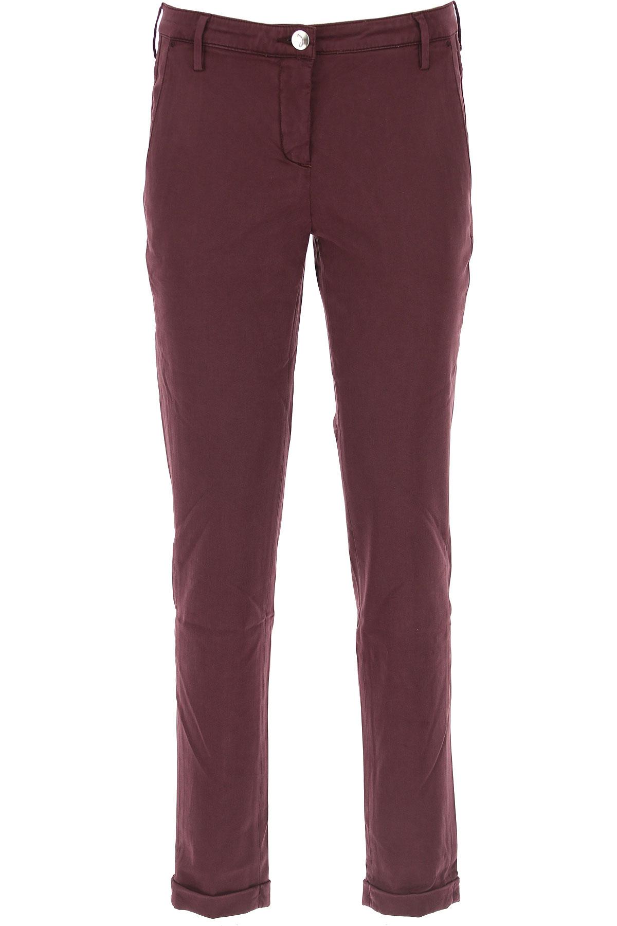 Jacob Cohen Pants for Women On Sale, Bordeaux Wine, lyocell, 2017, 28 29 30
