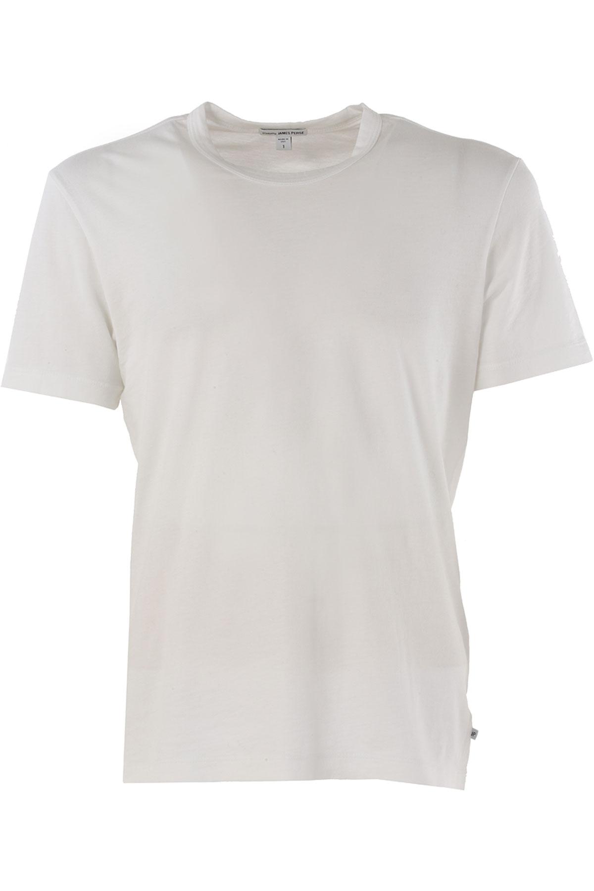 Image of James Perse T-Shirt for Men On Sale, White, Cotton, 2017, 1 - Uk/Usa S - Ita 46 3 - Uk/Usa L - Ita 50 5 - Uk/Usa XXL - Ita 54