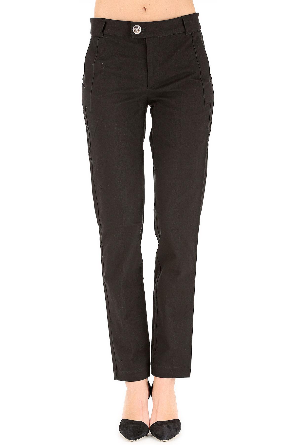 JC de CASTELBAJAC Pantalon Femme Pas cher en Soldes Outlet, Noir, Coton, 2017, 40 46
