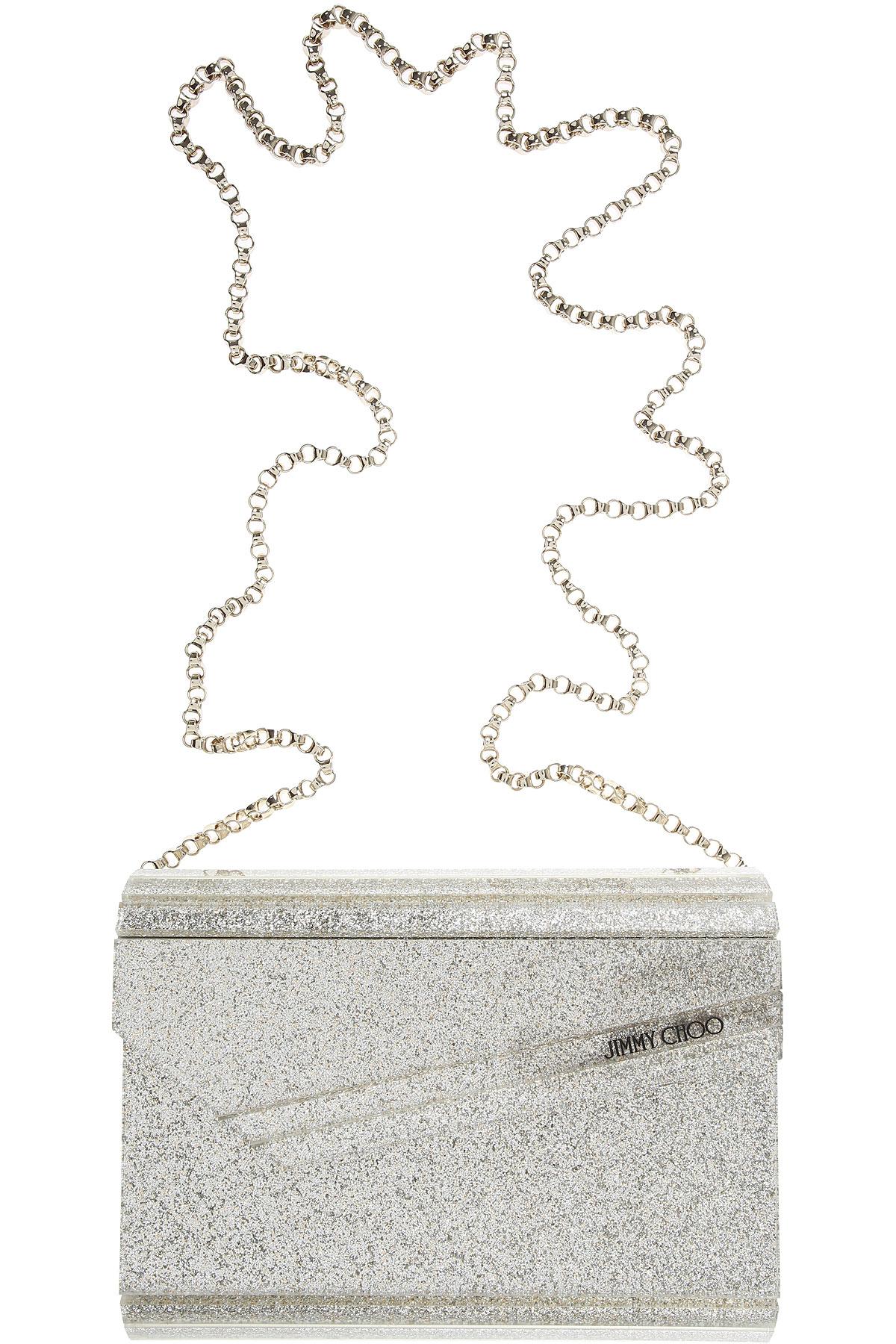 Jimmy Choo Shoulder Bag for Women, Champagne Gold, PVC, 2017