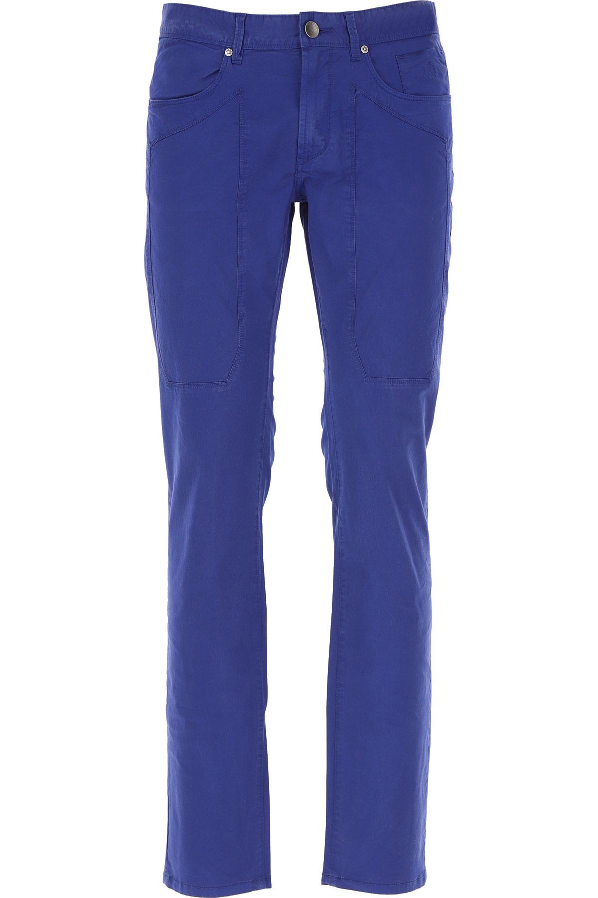 Jeckerson Pants for Men On Sale, Bluette, Cotton, 2019, 31 32 33 34 35 36 38
