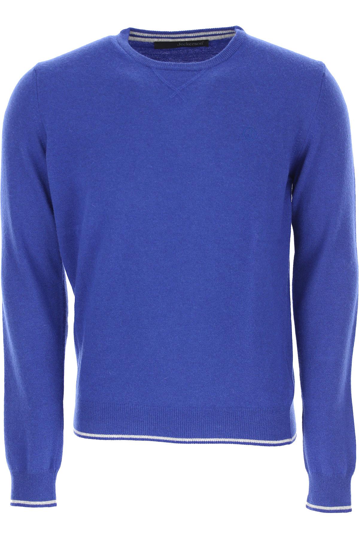 Jeckerson Sweater for Men Jumper On Sale, Bluette, polyamide, 2019, L XL
