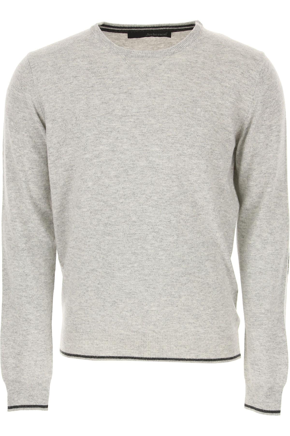 Jeckerson Sweater for Men Jumper, Grey, polyamide, 2019, XL XXL