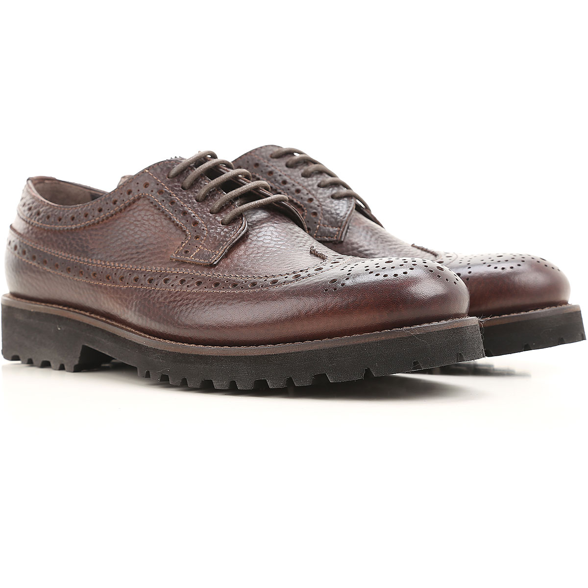 Image of Jerold Wilton Lace Up Shoes for Men Oxfords, Derbies and Brogues, Brown coffee, Leather, 2017, 11 7 8.5 9.5