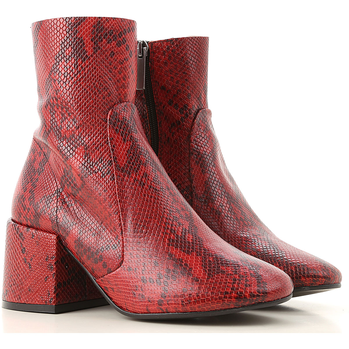 Jeffrey Campbell Boots for Women, Booties On Sale in Outlet, Red, Leather, 2019, 10 11 8 9