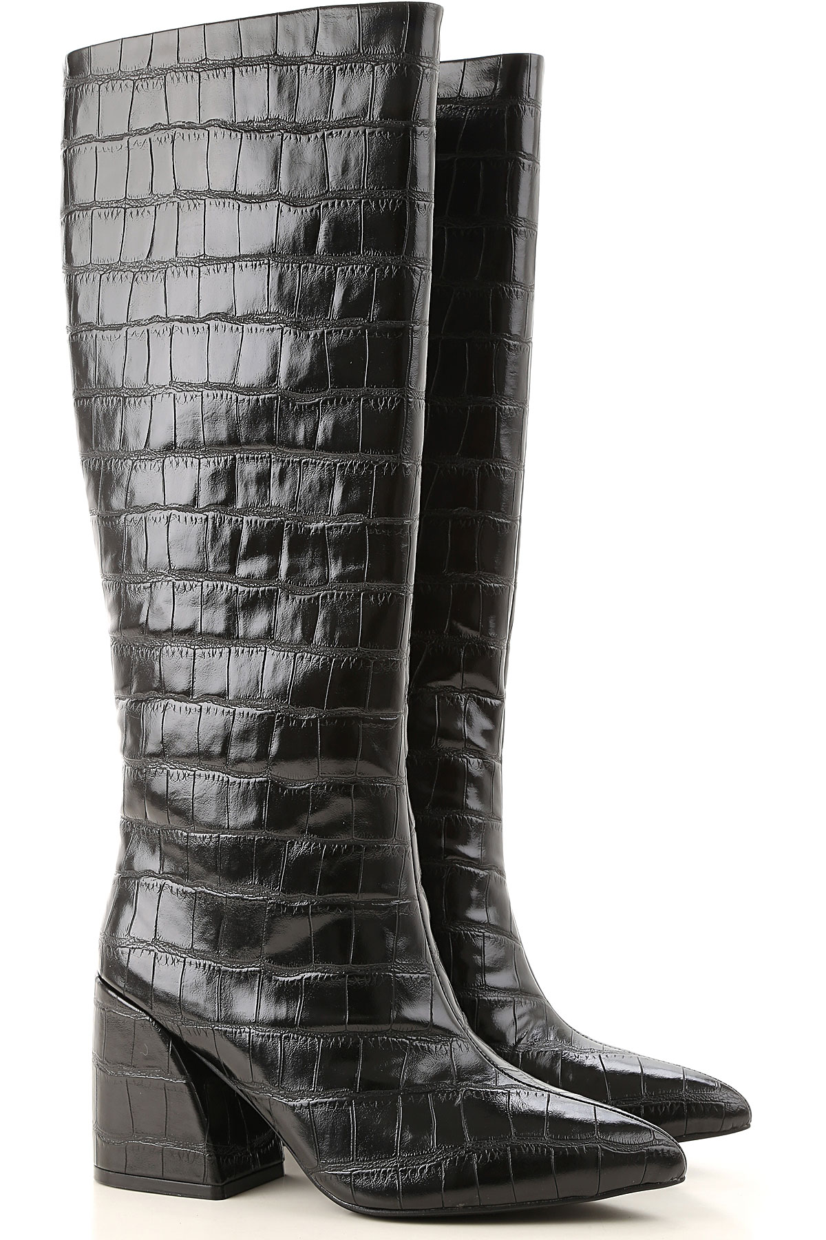 Jeffrey Campbell Boots for Women, Booties On Sale, Black, Eco Leather, 2019, 6 7 8