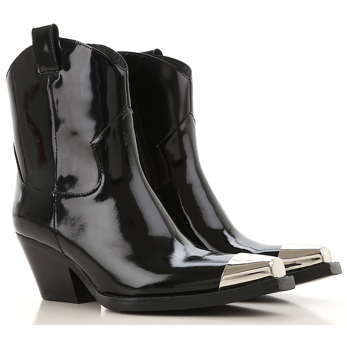 Jeffrey Campbell Boots for Women, Booties, Black, Patent Leather, 2019, 10 6