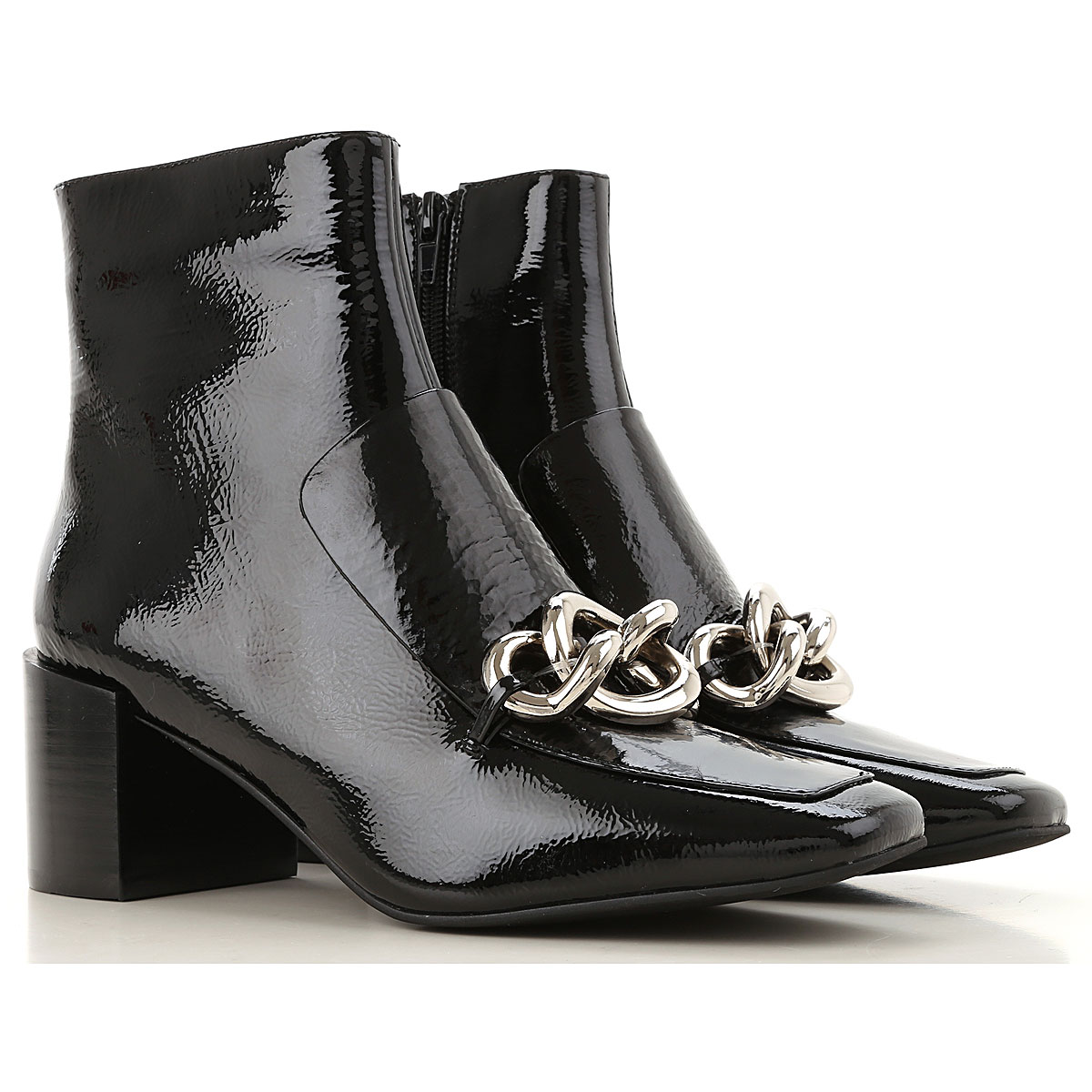 Jeffrey Campbell Boots for Women, Booties On Sale, Black, Patent Leather, 2019, 5 6 7 8 9