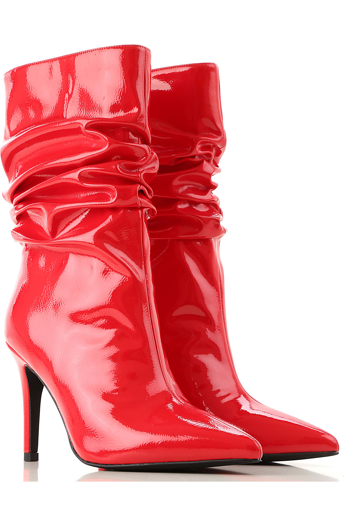 Jeffrey Campbell Boots for Women, Booties On Sale, Red, Patent Leather, 2019, 11 6 7 8 9