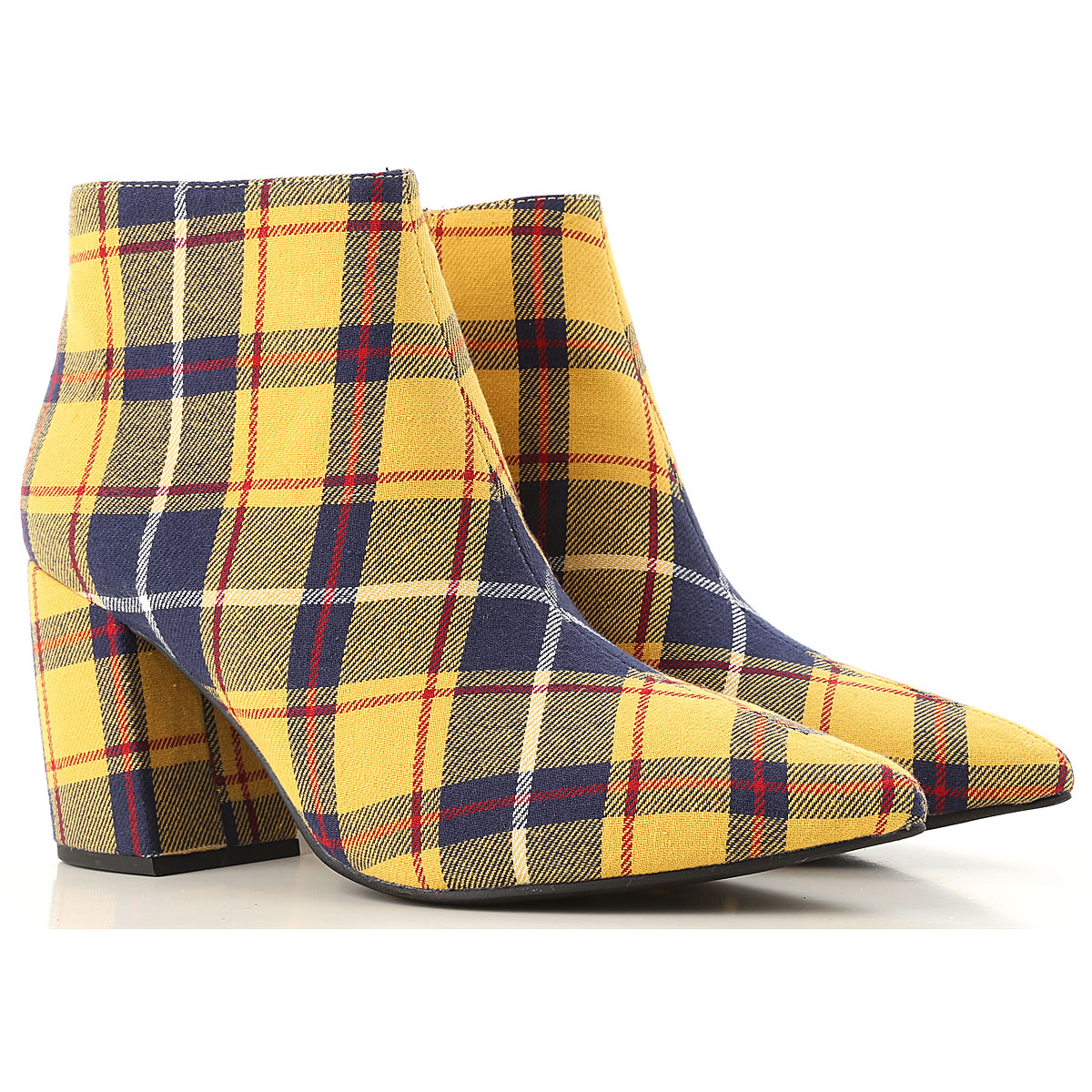 Image of Jeffrey Campbell Boots for Women, Booties, Yellow, Fabric, 2017, 10 11 7