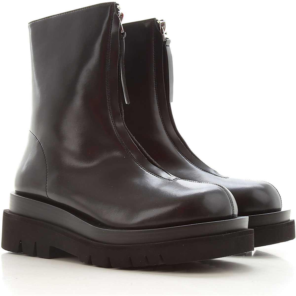 Jeffrey Campbell Boots For Women, Booties, Black, Leather, 2021, 3.5 6.5