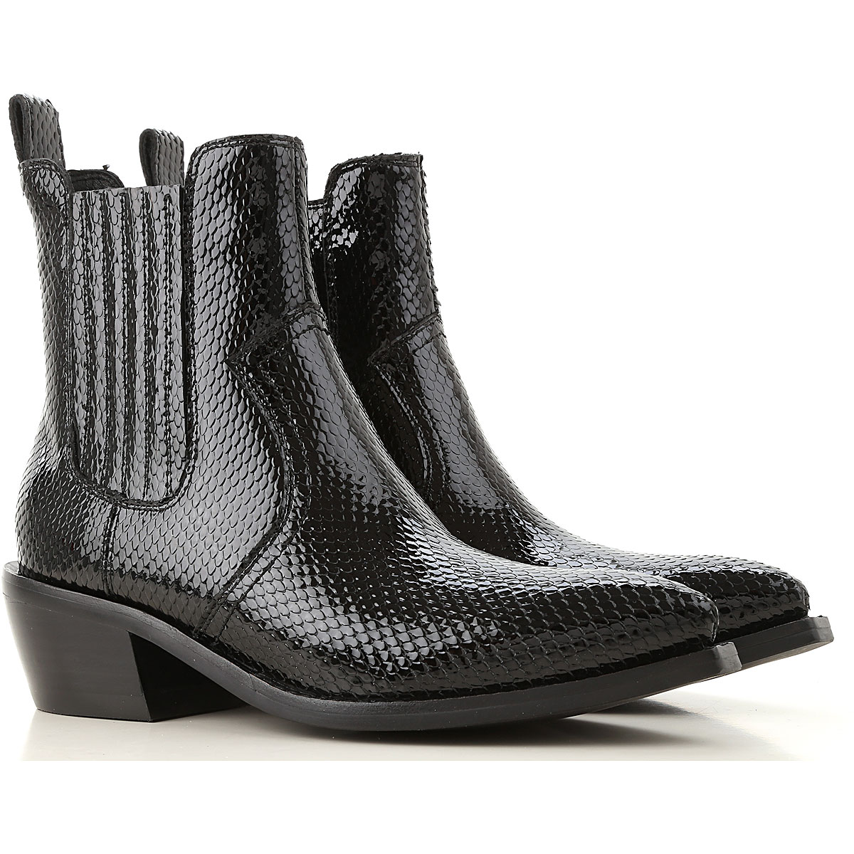 Jeffrey Campbell Boots for Women, Booties On Sale, Black, Patent Leather, 2019, 6 7 9