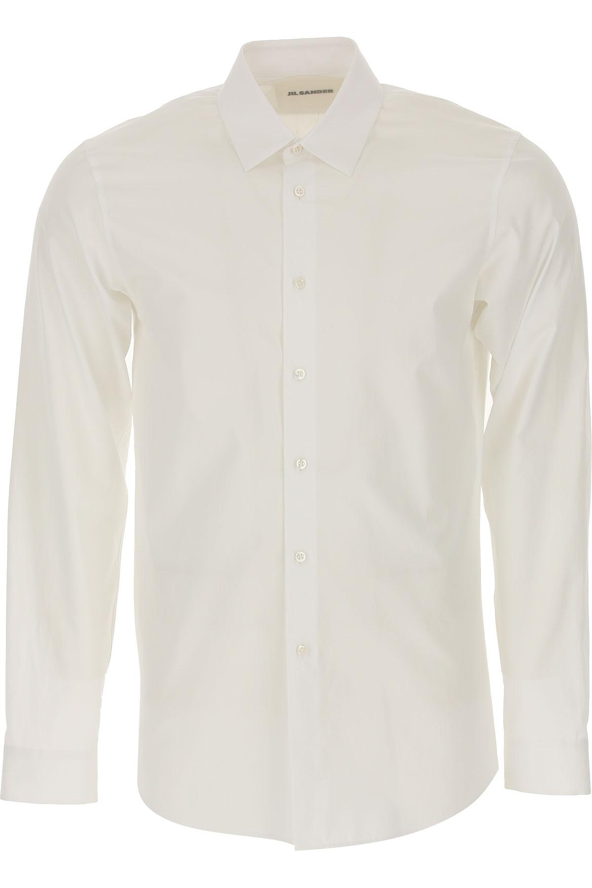 Jil Sander Shirt for Men On Sale, White, Cotton, 2019, 16.5 17