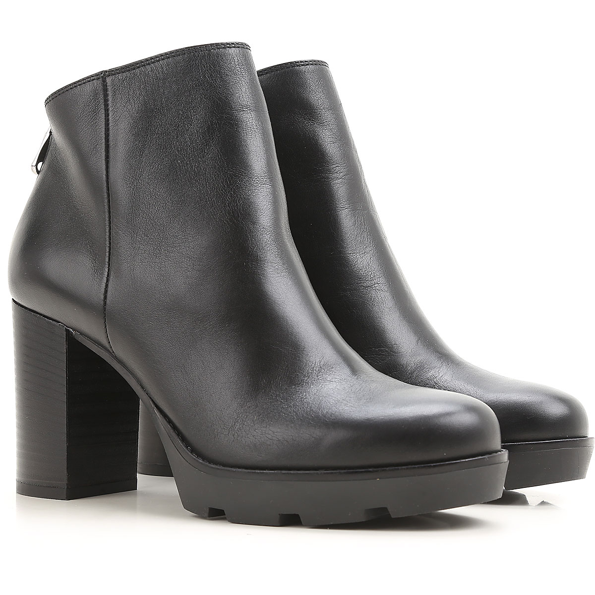 Image of Janet & Janet Boots for Women, Booties On Sale, Black, Leather, 2017, 10 7 8