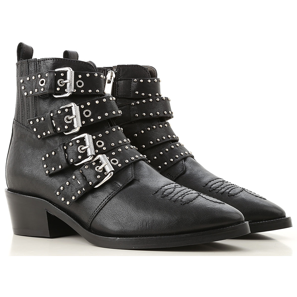 Image of Janet & Janet Boots for Women, Booties, Black, Leather, 2017, 10 11 5.5 6.5 8 8.5 9 9.5