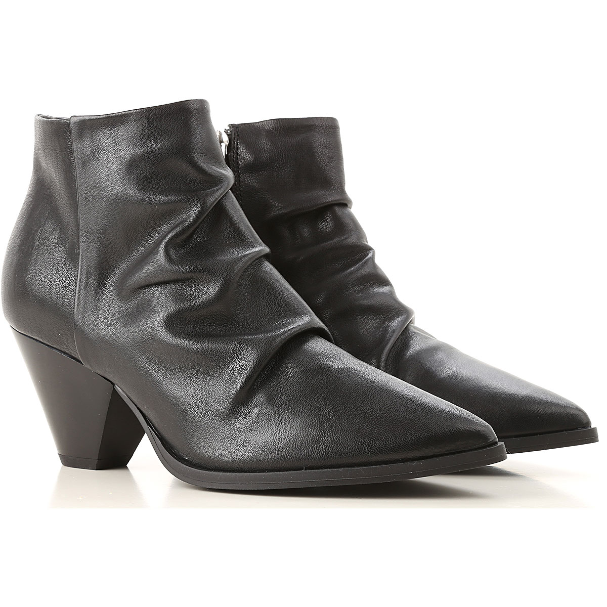 Image of Janet & Janet Boots for Women, Booties, Black, Leather, 2017, 10 11 5.5 6.5 7 8 8.5 9 9.5