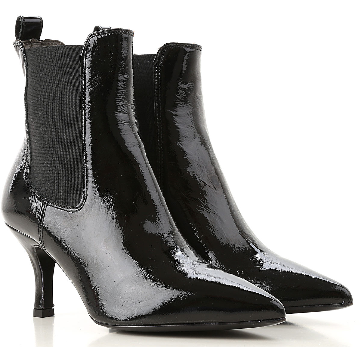 Image of Janet & Janet Boots for Women, Booties, Black, Patent Leather, 2017, 10 11 5 5.5 6 6.5 7 8 8.5 9 9.5
