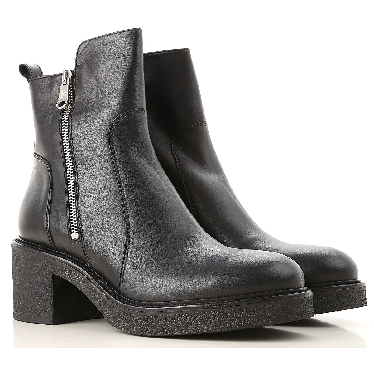 Image of Janet & Janet Boots for Women, Booties, Black, Leather, 2017, 6 7 8