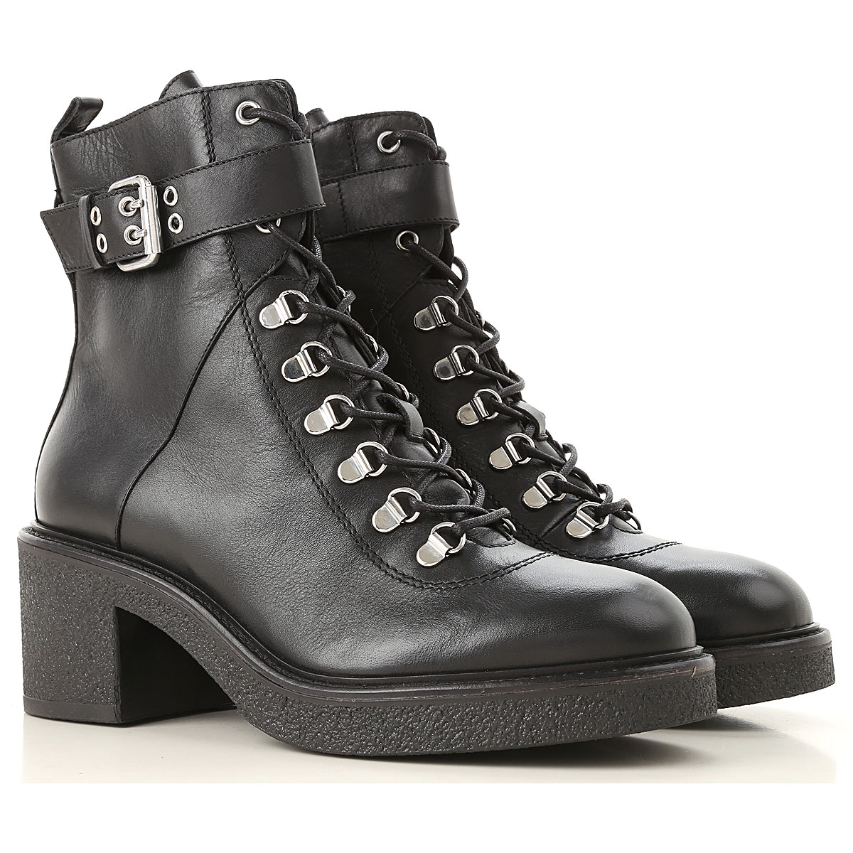 Image of Janet & Janet Boots for Women, Booties, Black, Leather, 2017, 6 7 8 9