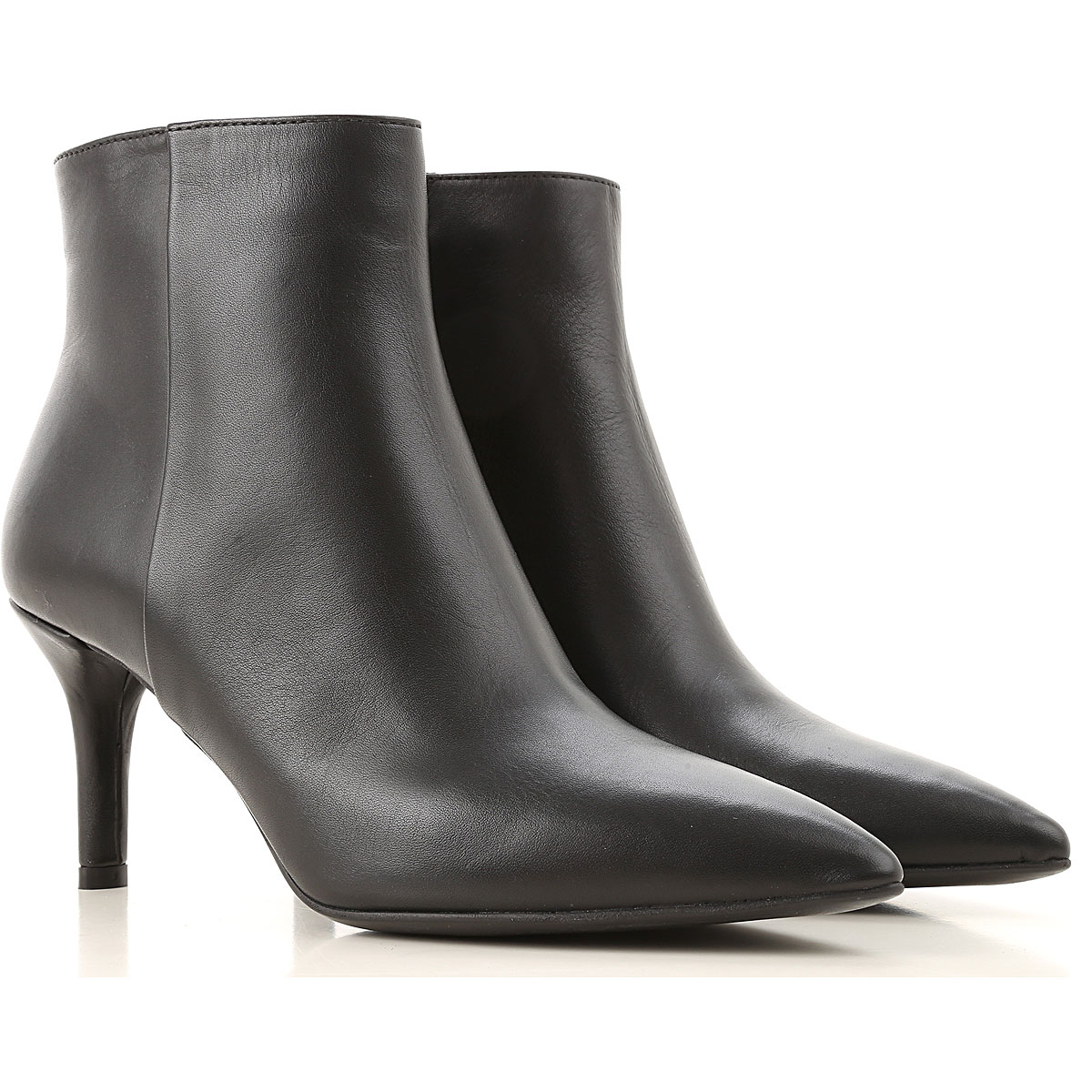 Janet & Janet Boots for Women, Booties On Sale, Black, Leather, 2019, 6 7 8 9