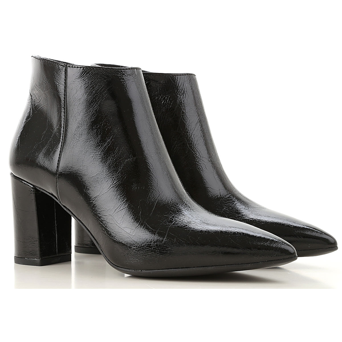 Janet & Janet Boots for Women, Booties On Sale, Black, Leather, 2019, 7 8