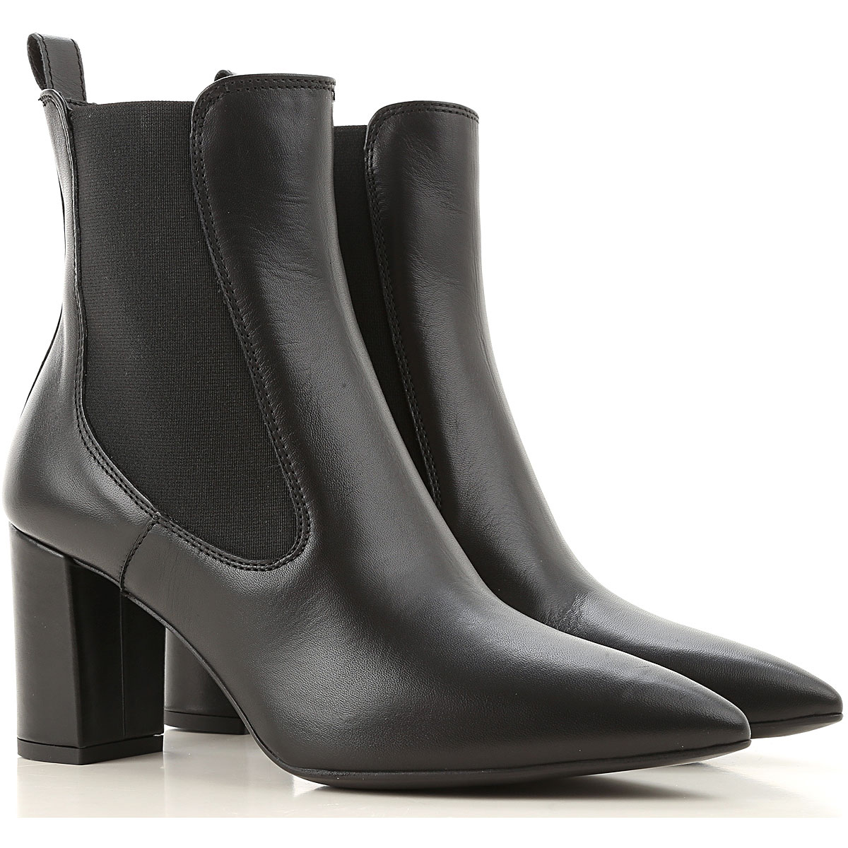 Janet & Janet Chelsea Boots for Women On Sale, Black, Leather, 2019, 10 8 9