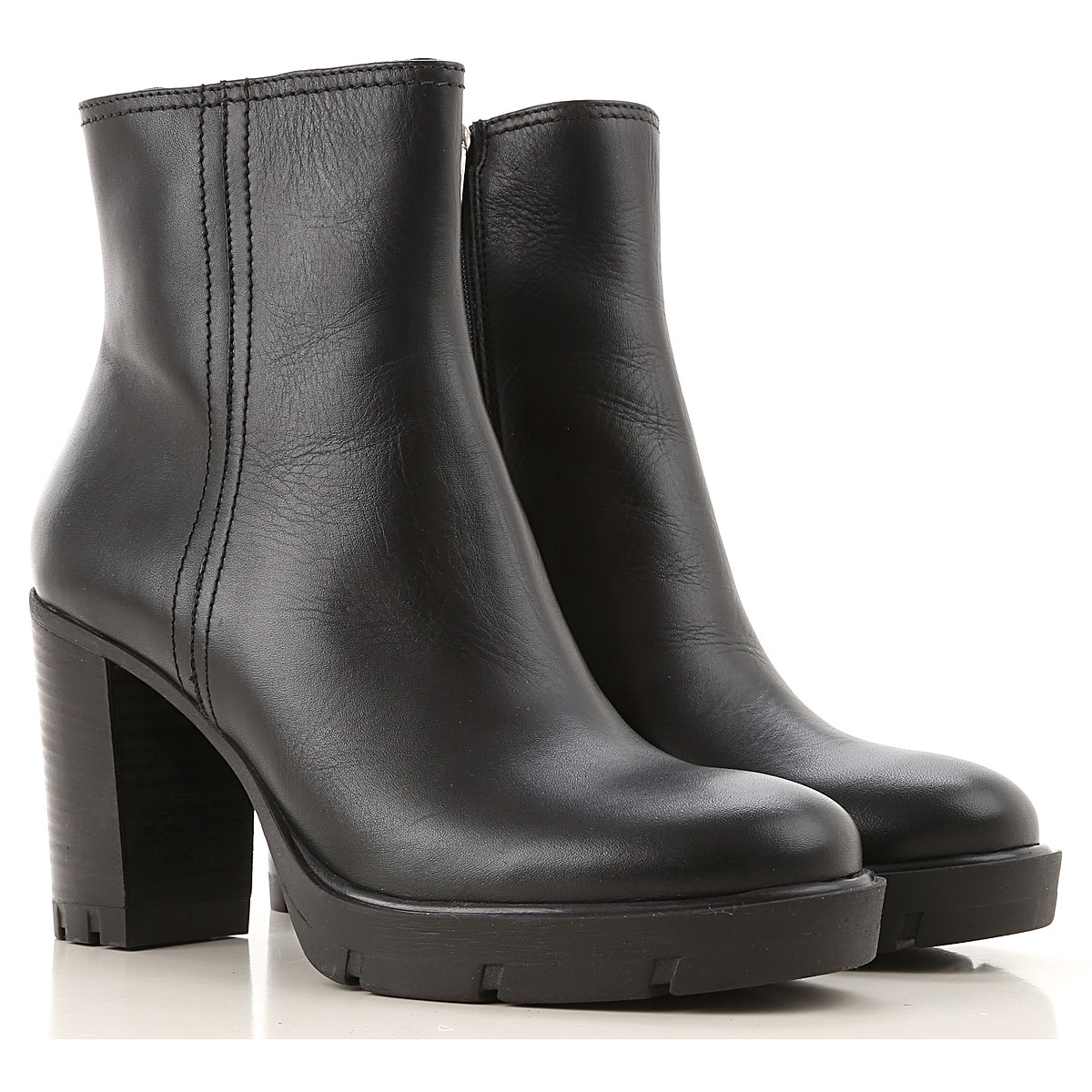 Janet & Janet Boots for Women, Booties On Sale, Black, Leather, 2019, 10 5 6 7 8 9
