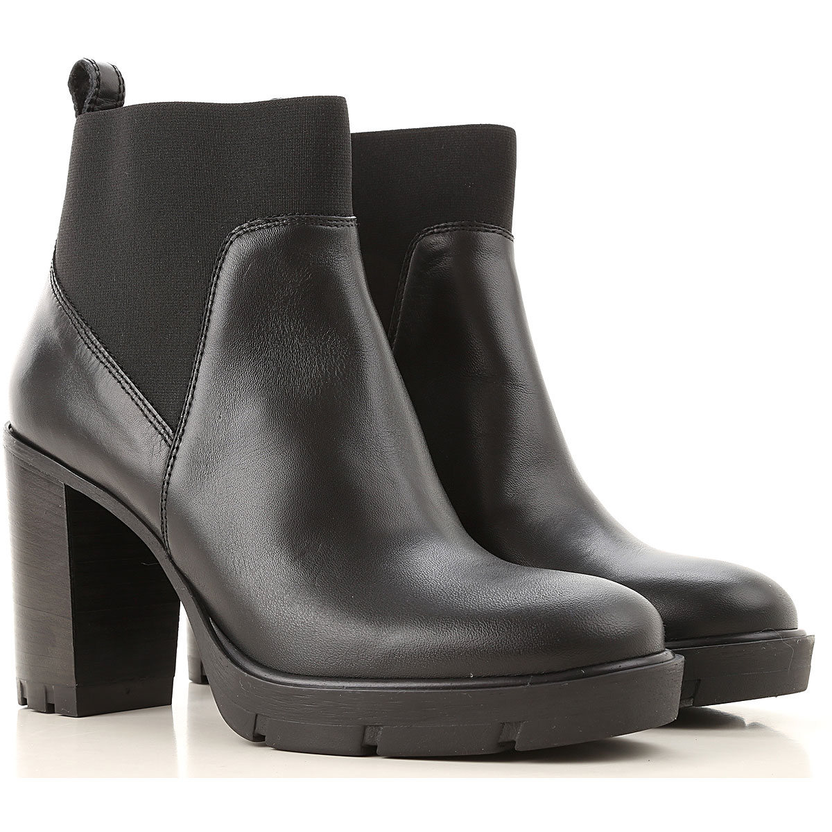 Janet & Janet Chelsea Boots for Women On Sale, Black, Leather, 2019, 10 5 6 7 8 9