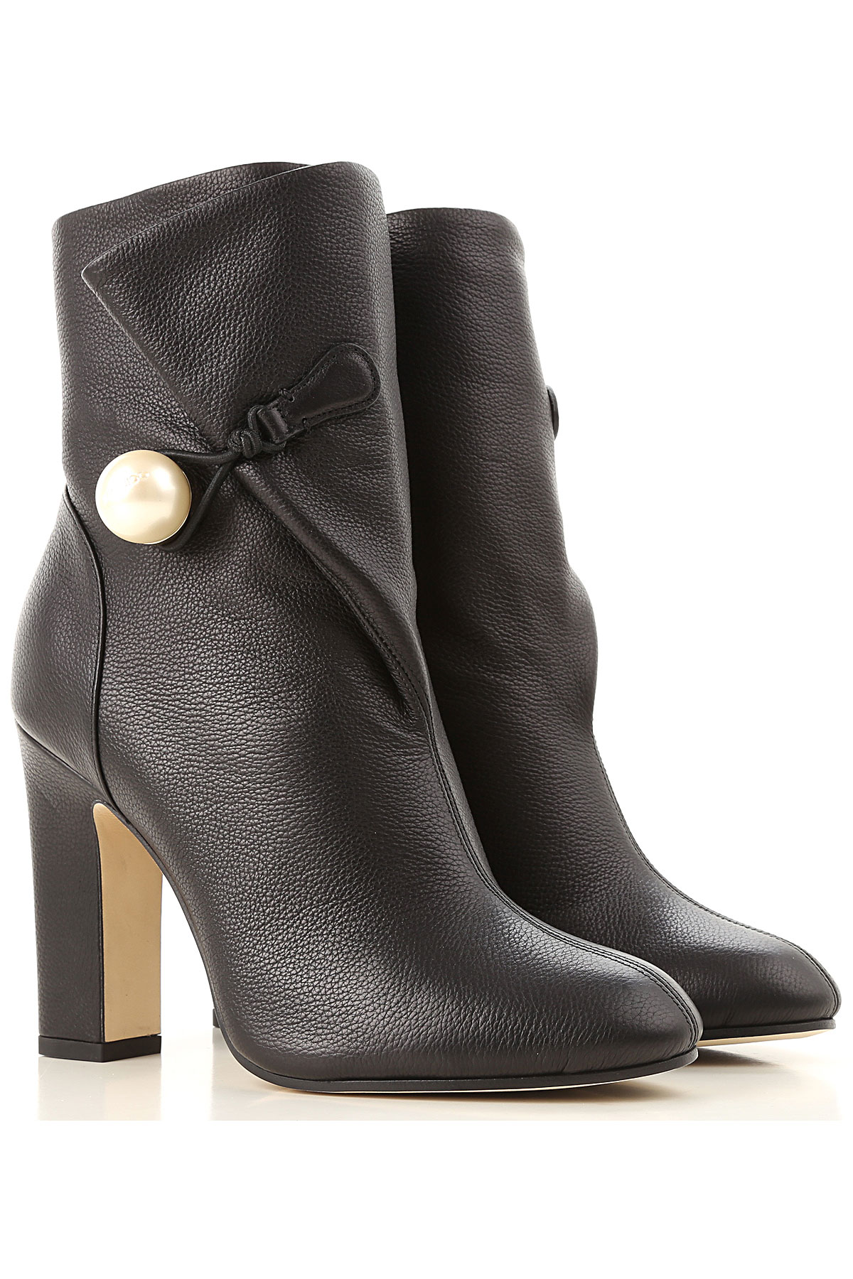 Jimmy Choo Boots for Women, Booties On Sale in Outlet, Black, Leather, 2019, 10 7