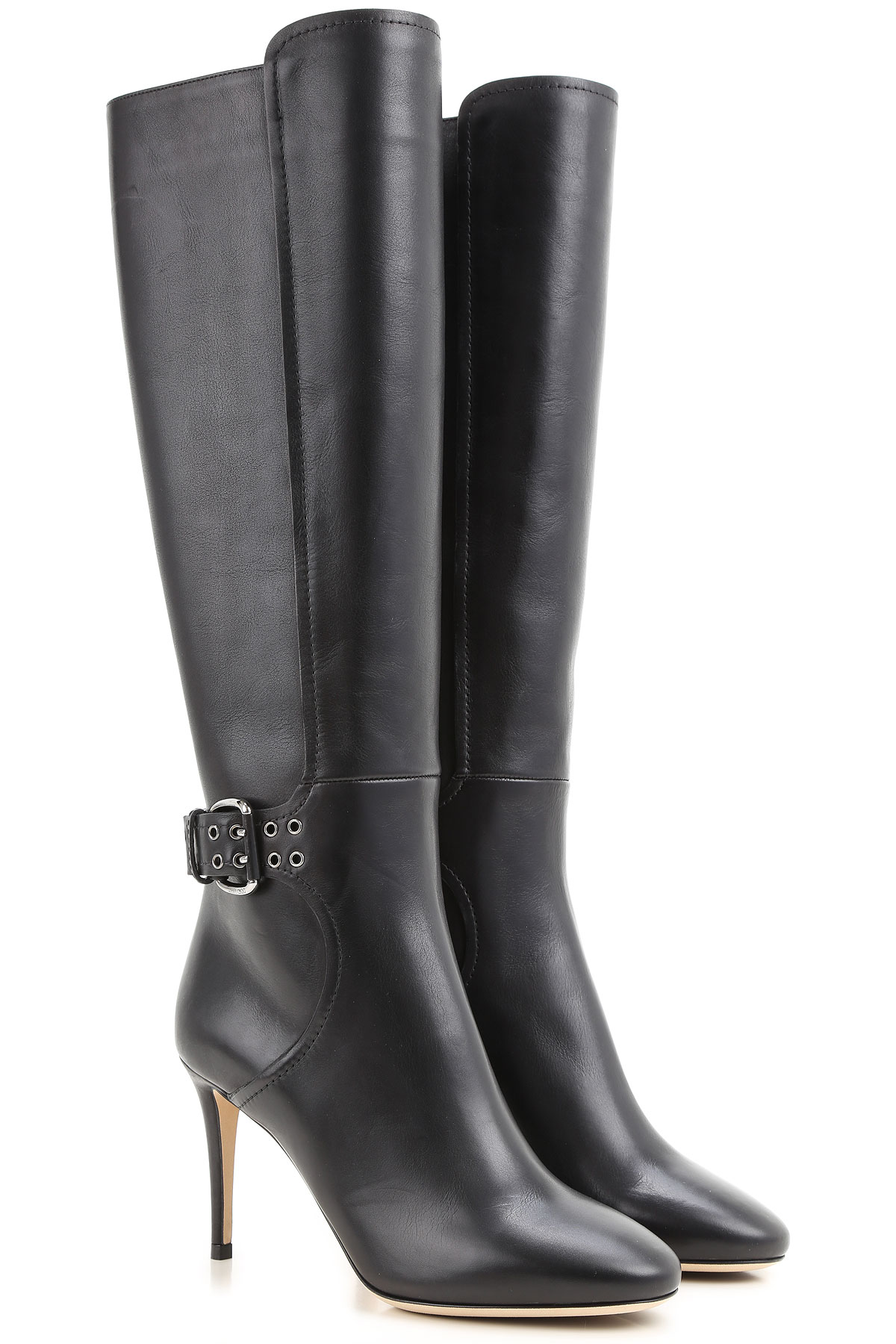 Jimmy Choo Boots for Women, Booties On Sale in Outlet, Black, Leather, 2019, 5 6 8.5 9 9.5