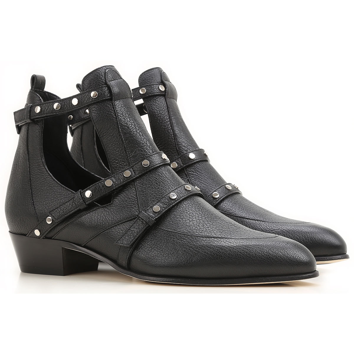 Jimmy Choo Boots for Women, Booties On Sale in Outlet, Black, Leather, 2019, 10 6 6.5 7 8.5 9