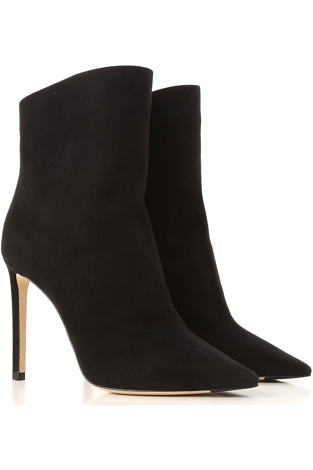 Jimmy Choo Boots for Women, Booties On Sale, Black, suede, 2019, 6 8