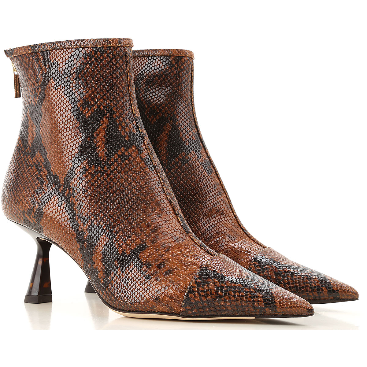 Jimmy Choo Boots for Women, Booties On Sale, Leather Brown, Leather, 2019, 11 6 8 9
