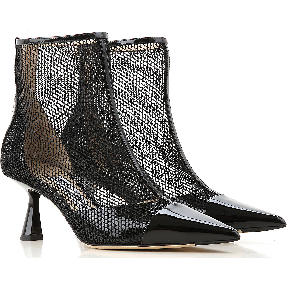Jimmy Choo Boots for Women, Booties On Sale, Black, Leather, 2019, 6 8