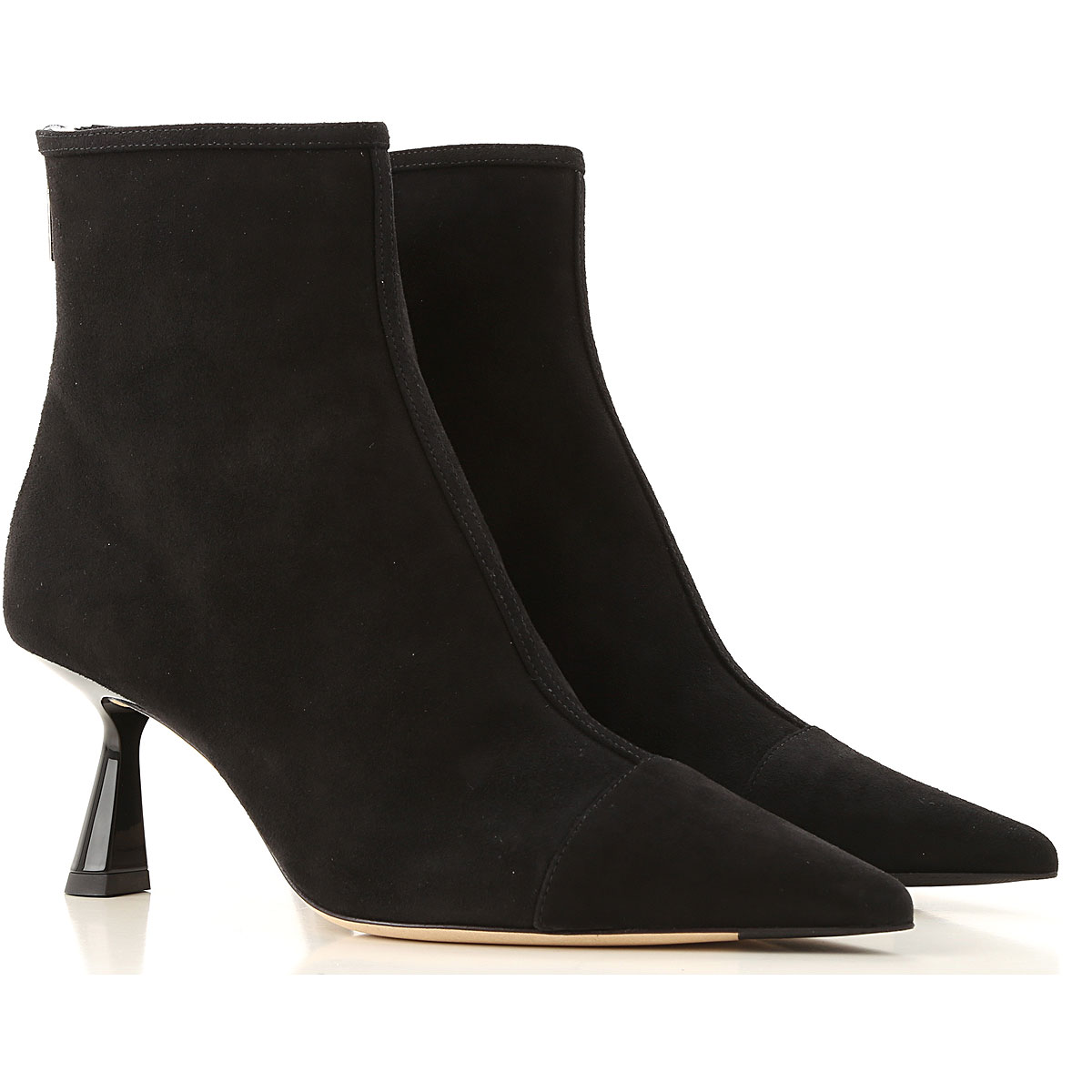 Jimmy Choo Boots for Women, Booties On Sale, Black, Suede leather, 2019, 10 7 8