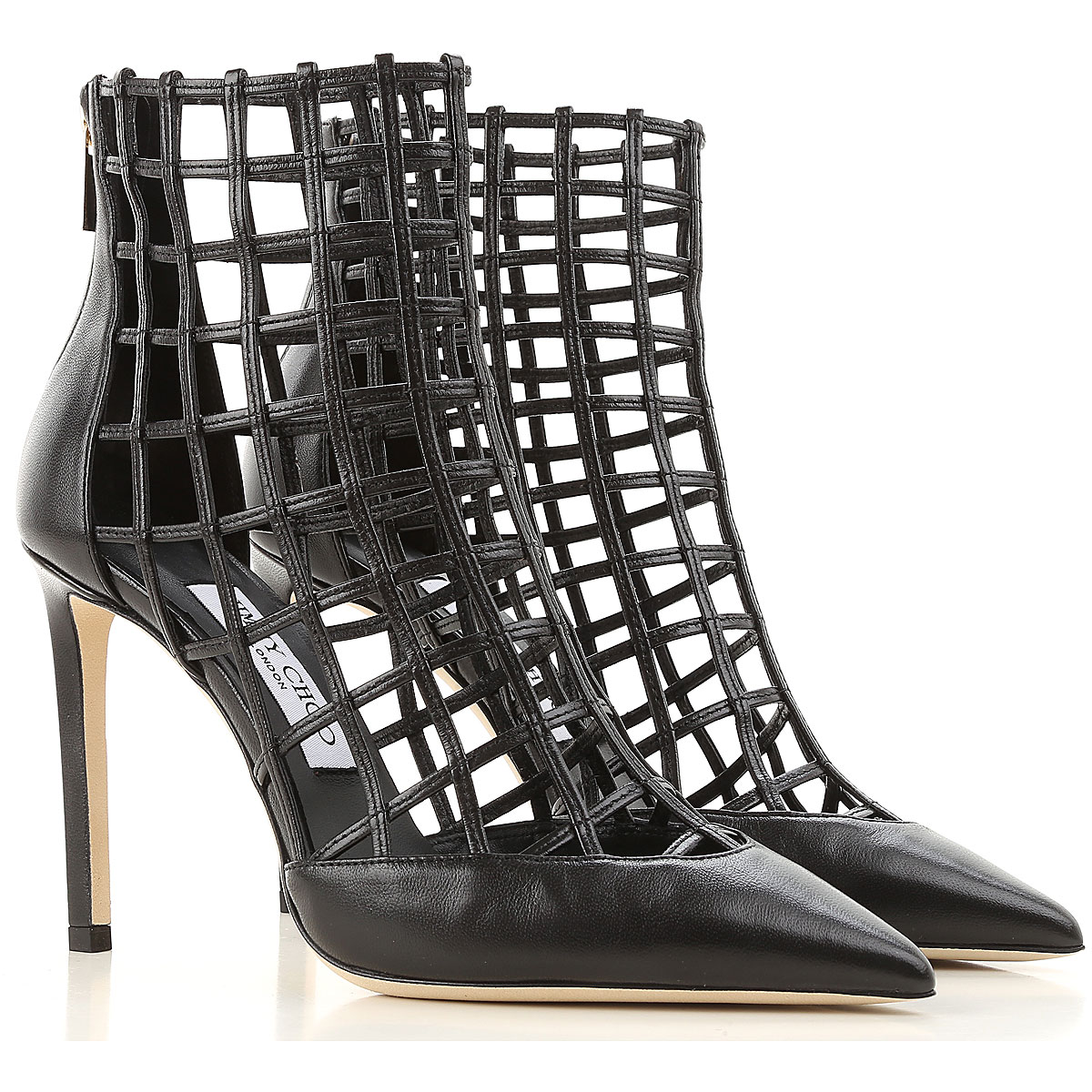 Image of Jimmy Choo Boots for Women, Booties, Black, Leather, 2017, 10 5.5 6 7 8.5