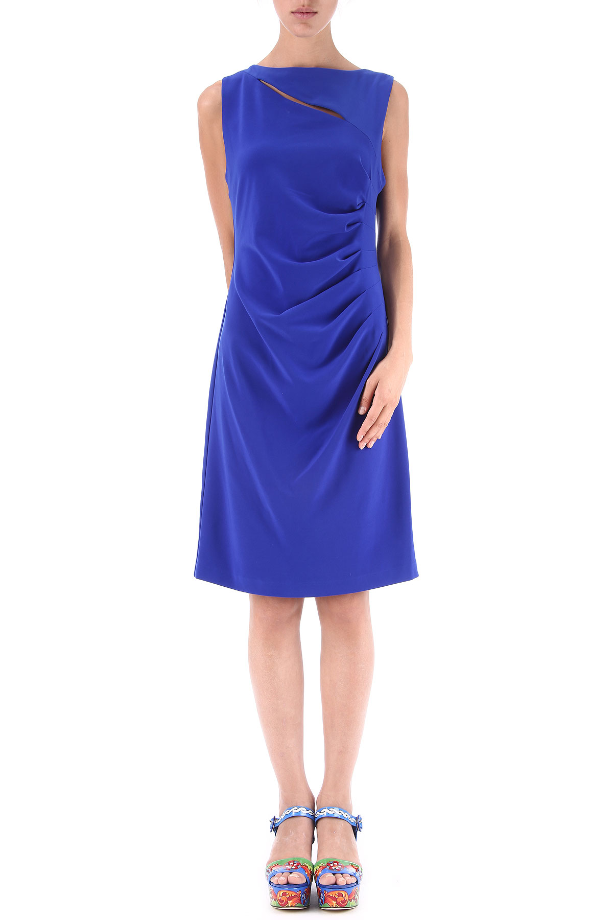 Joseph Ribkoff Dress for Women, Evening Cocktail Party On Sale in Outlet, Royal Blue, polyester, 2017, USA 10 -- IT 44 USA-365981