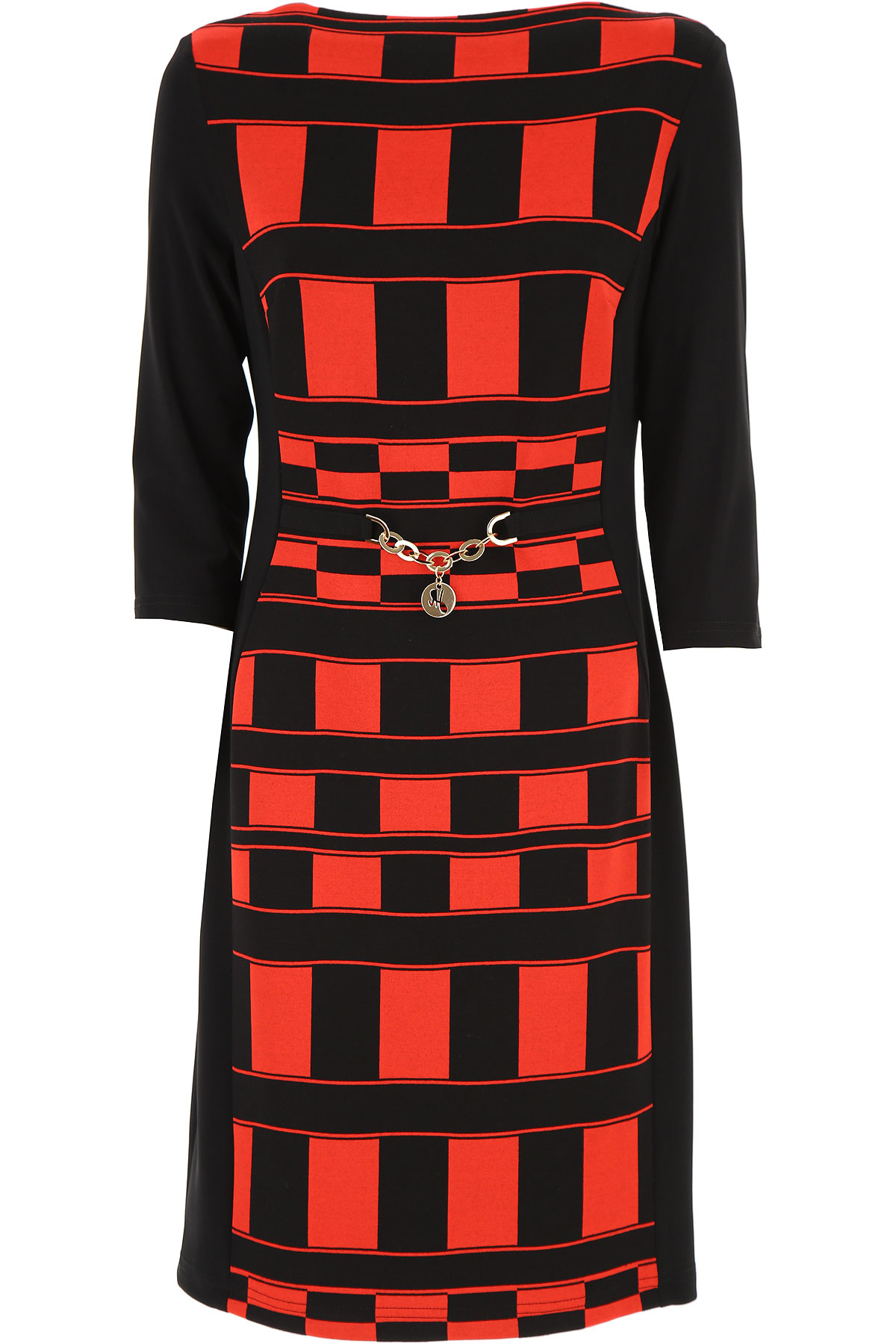 Image of Joseph Ribkoff Dress for Women, Evening Cocktail Party On Sale, Black, polyester, 2017, 10 12 6 8