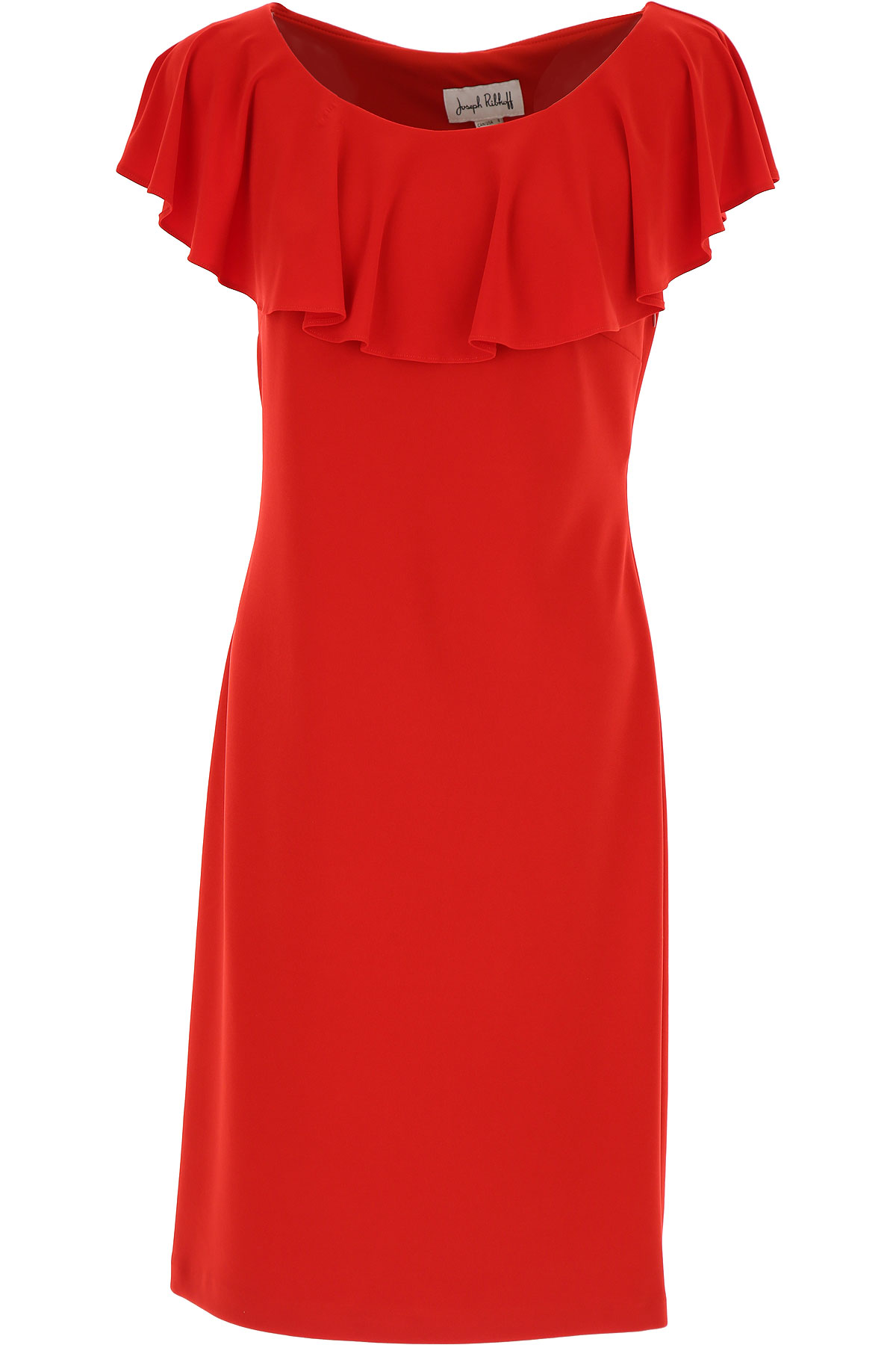 Joseph Ribkoff Dress for Women, Evening Cocktail Party, Red, polyester, 2017, 10 12 6 8 USA-437233