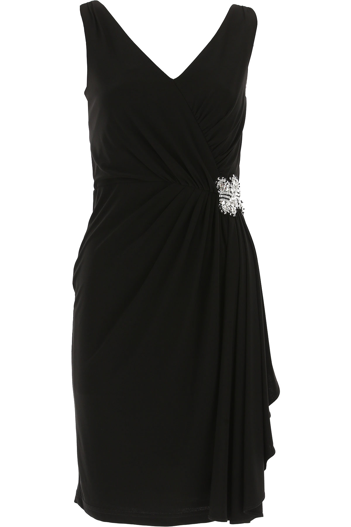 Image of Joseph Ribkoff Dress for Women, Evening Cocktail Party, Black, polyester, 2017, 10 12 6 8