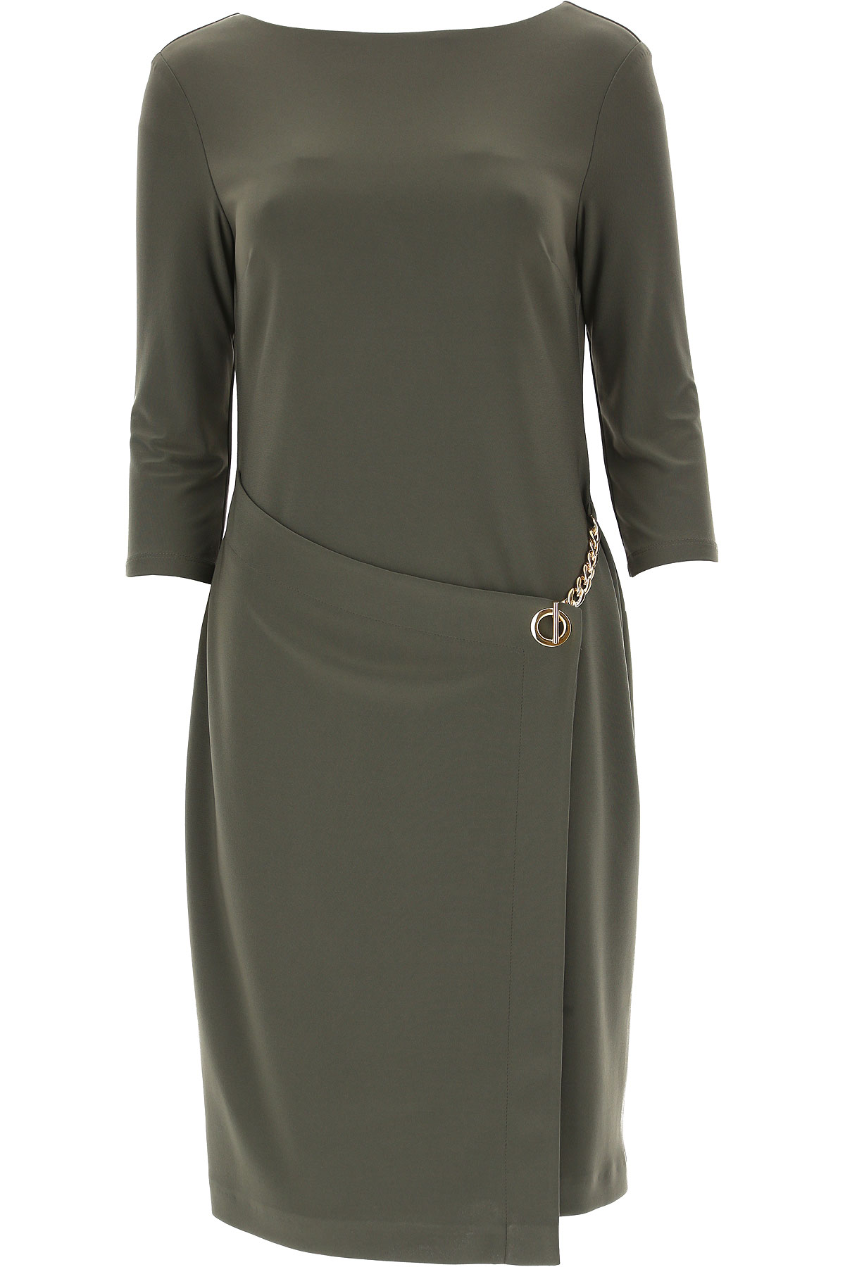 Image of Joseph Ribkoff Dress for Women, Evening Cocktail Party, Avocado Green, polyester, 2017, 10 12 8