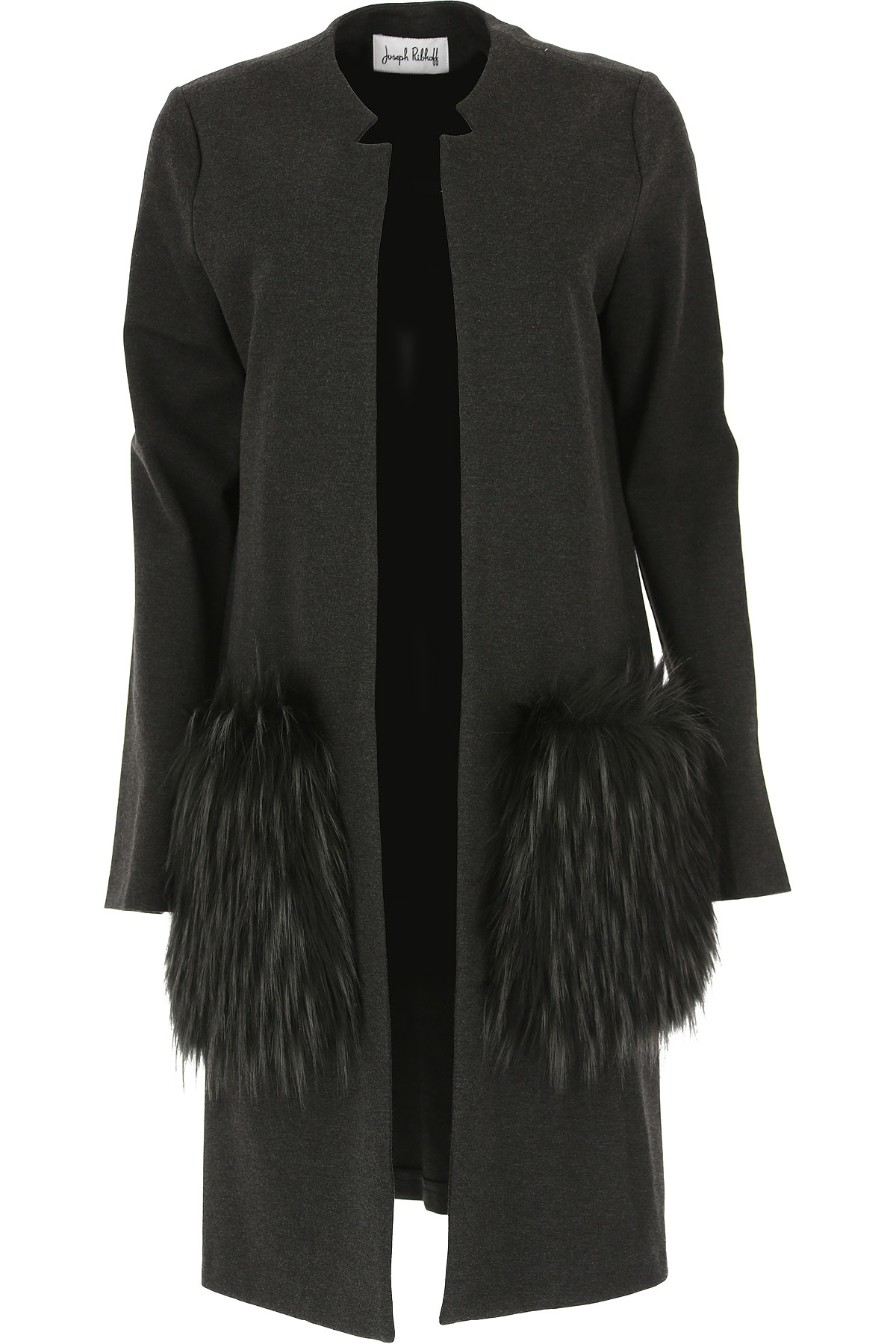 Image of Joseph Ribkoff Dress for Women, Evening Cocktail Party, Charcoal Grey, Viscose, 2017, 10 12 6 8