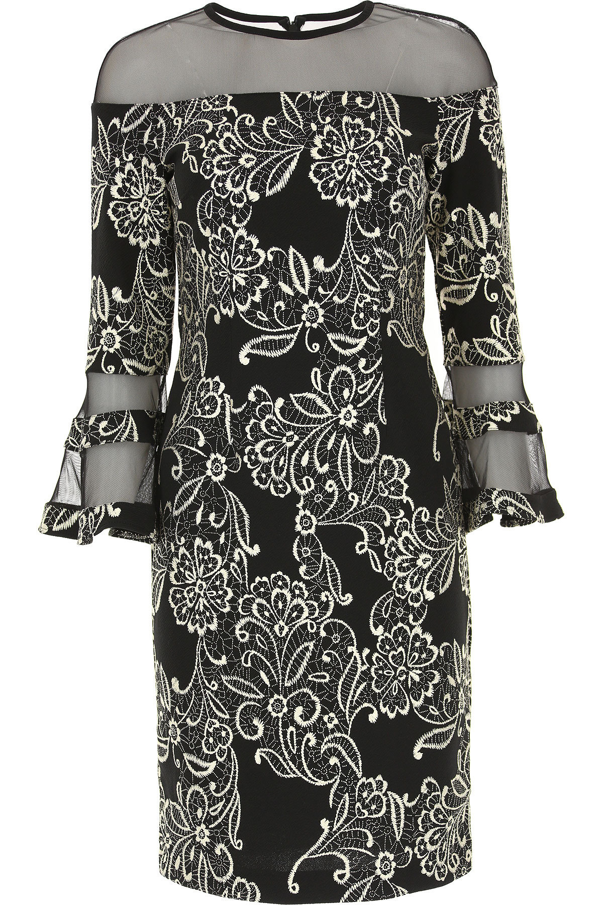 Image of Joseph Ribkoff Dress for Women, Evening Cocktail Party, Black, polyester, 2017, 10 8